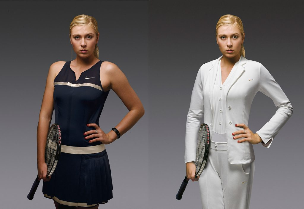 photo retouching tennis maria photoshop